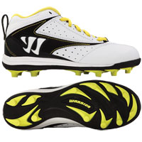 Youth Vex Cleat (White with Black and Yellow)